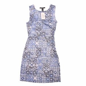 NEW Forever 21 Dress Small Blue & White